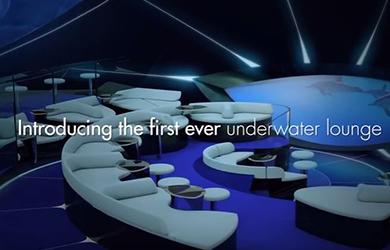 Ponant's underwater bar