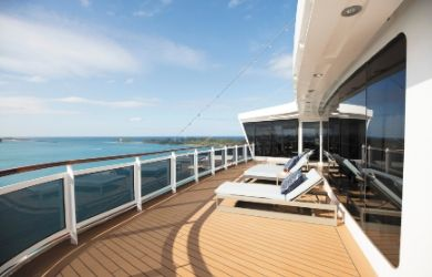 Regent Seven Seas Explorer luxury cruise ship with balcony